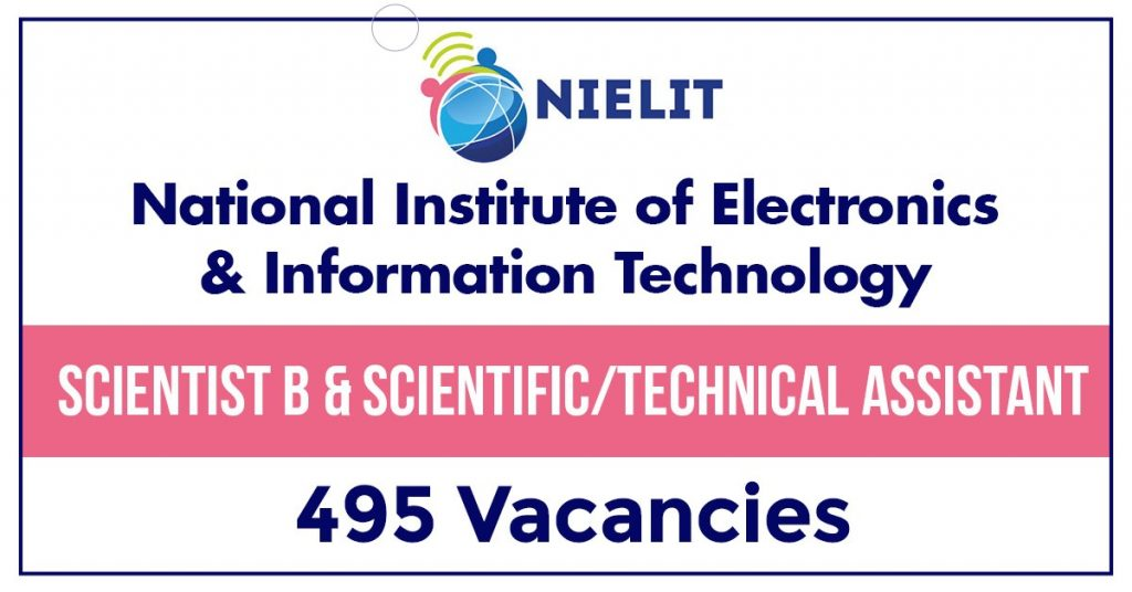 NIELIT NIC Scientist B and Scientific Assistant