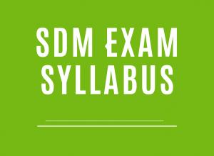 SDM Exam Syllabus