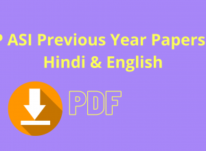 UP ASI Previous Year Papers in Hindi & English
