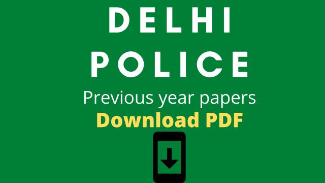Delhi Police Constable Exam Paper