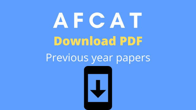 [PDF] AFCAT Previous Year Paper in Hindi & English