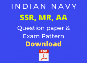 Indian Navy Question paper for 2021