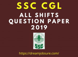 SSC CGL 2019 Question Paper in Hindi