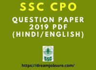 SSC CPO Question Paper 2019 PDF