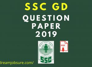 SSC GD Question paper 2019