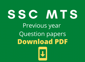 SSC MTS Question Papers