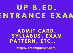 UP B.Ed Entrance exam 2021